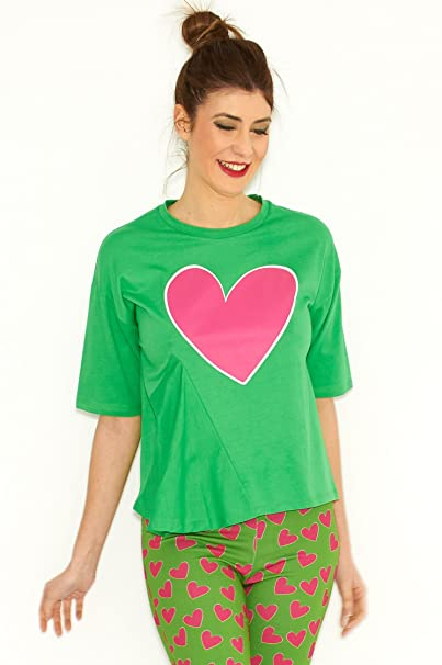 Agatha Ruíz de la Prada Camiseta Verde Corazon (36)