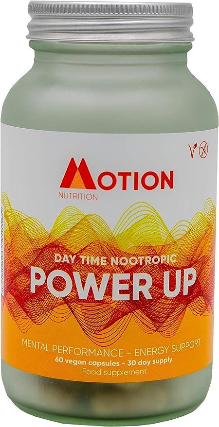 Motion Nutrition Power Up Dayot Nootropic - Rendimiento mental - Sin estimulantes dañinos, sin cafeína, sin gluten – Suplemento energético - Salud mental - Contenido para 30 días (60 cápsulas): Amazon.es: Salud y cuidado personal