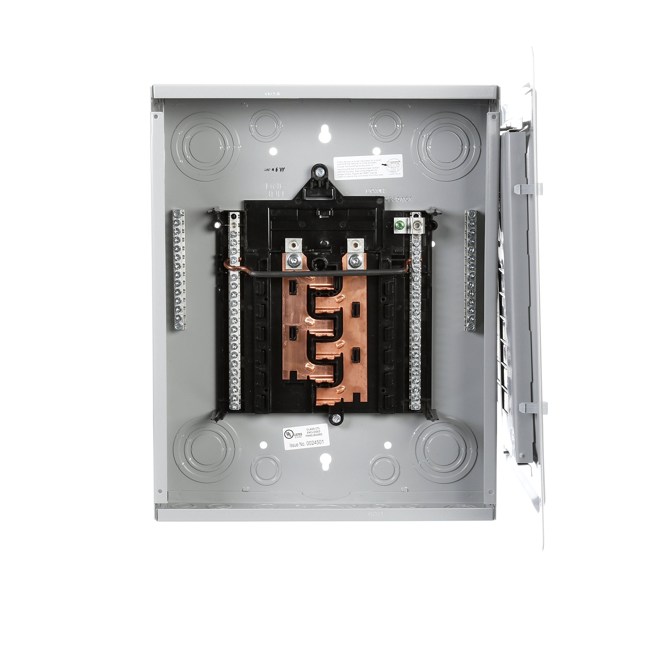Best Rated In Circuit Breaker Panels Helpful Customer Reviews Home Board Square Frame P1224l1125cu 125 Amp 12 Space 24 Main Lug Load Center Product Image