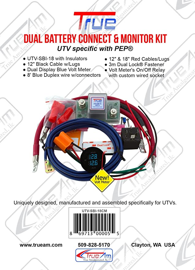 amazon com true utv sbi cm utv dual battery connect monitor kit rh amazon com Compressor Relay Wiring Diagram True Compressor Wiring Diagram