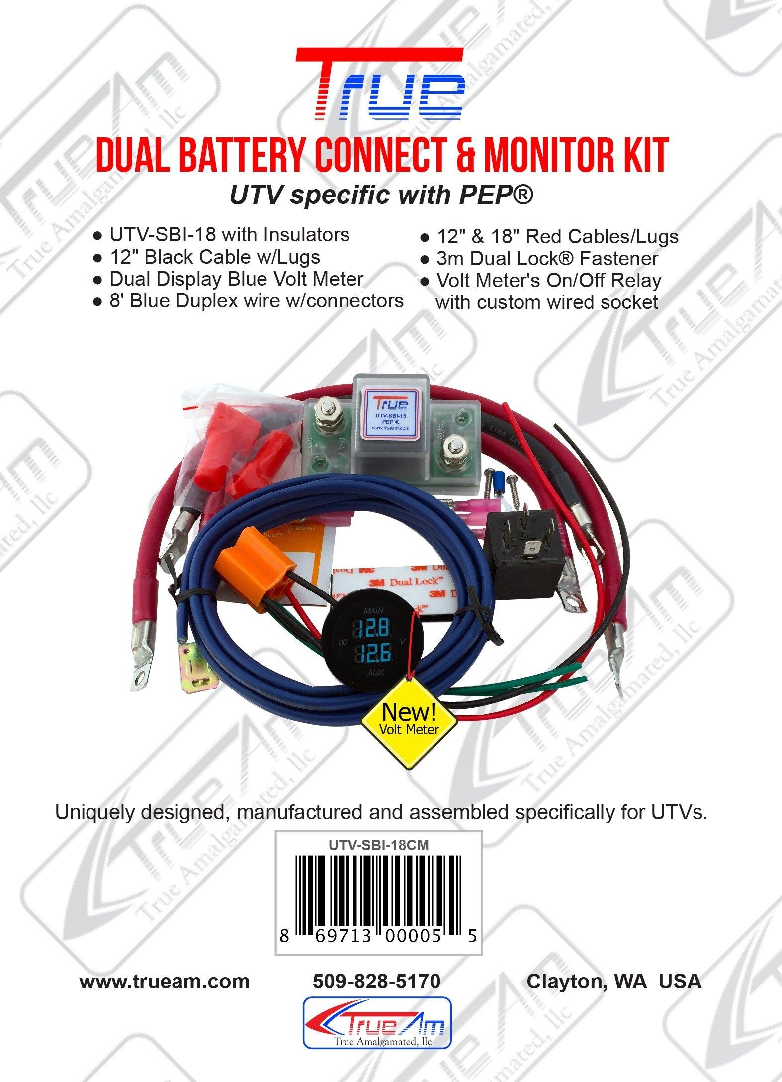 True UTV-SBI-15CM UTV Dual Battery Connect & Monitor Kit by True Decor (Image #1)