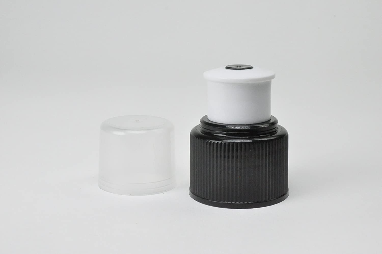 Bevanda Cap–Pull Push, Sport Cap per bottiglie di vetro, Trink Cap Schwarz Bevanda Cap-Pull Push Blueraccoon