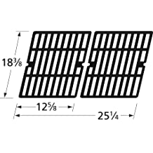 Music City Metals 64532 Matte Cast Iron Cooking Grid Replacement for Select Master Chef Gas Grill Models, Set of 2