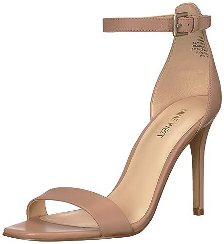 f0f250a5e2b Nine West Women's Mana Leather Heeled Sandal