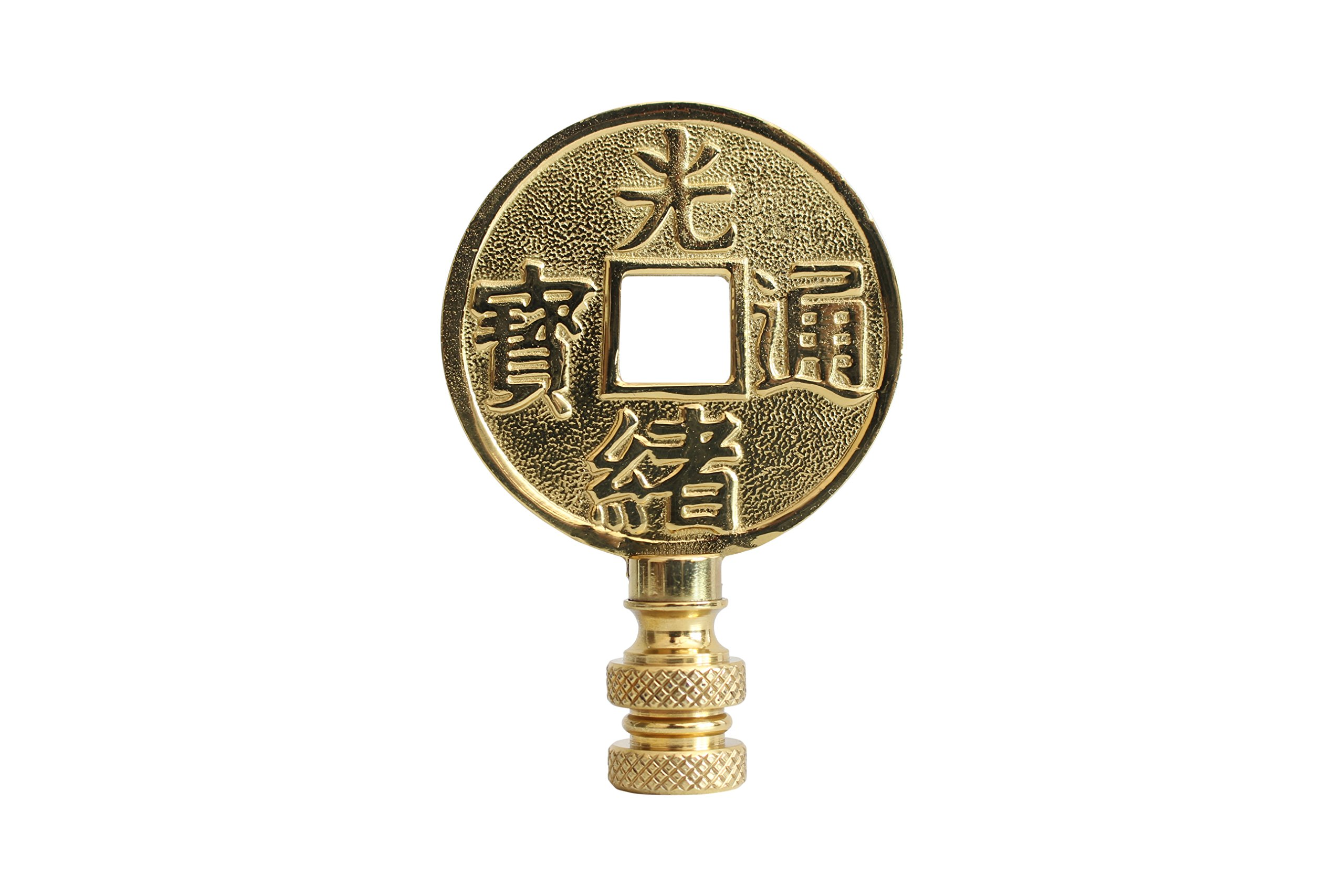 Bronze Chinese Coin Lamp Finial