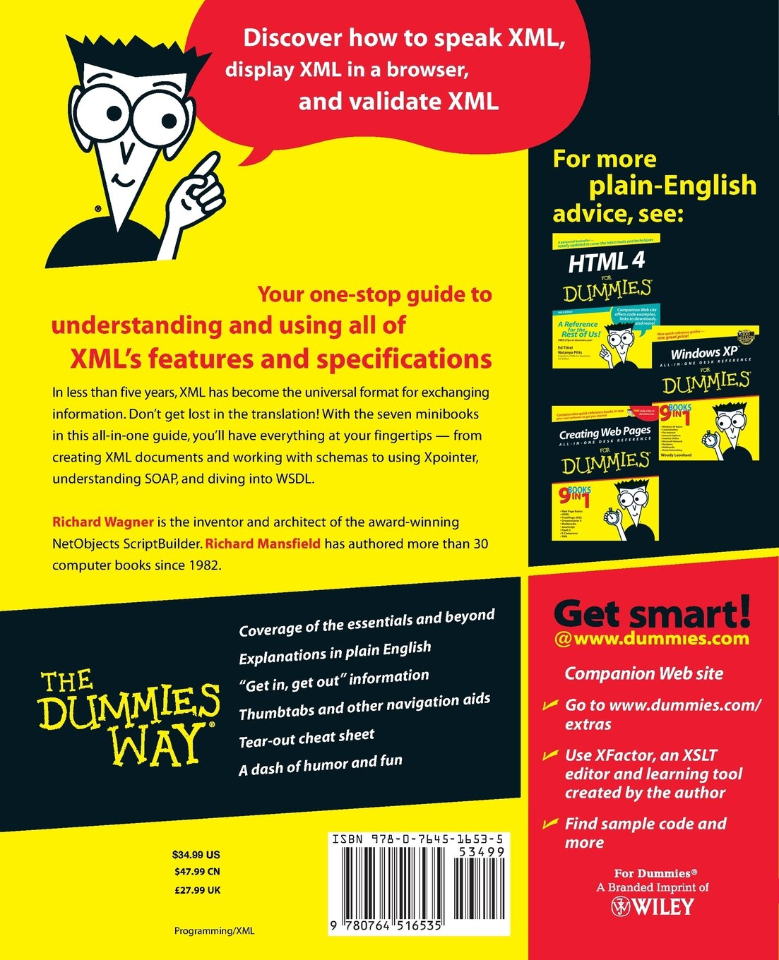 XML All in One Desk Reference for Dummies: Amazon.co.uk: Richard Wagner,  Richard Mansfield: 9780764516535: Books