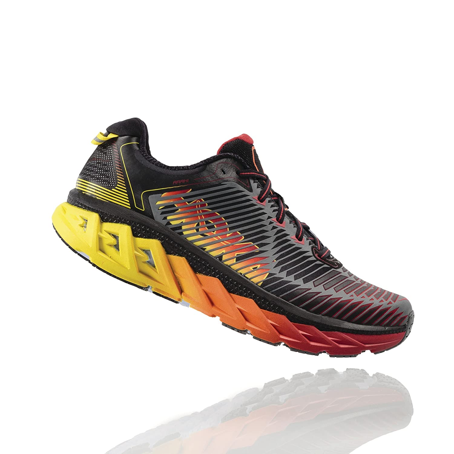 HOKA ONE ONE Mens Arahi Running US|Black/Formula Shoe B01H6AYDU4 12 D(M) US|Black/Formula Running One ddfe8a