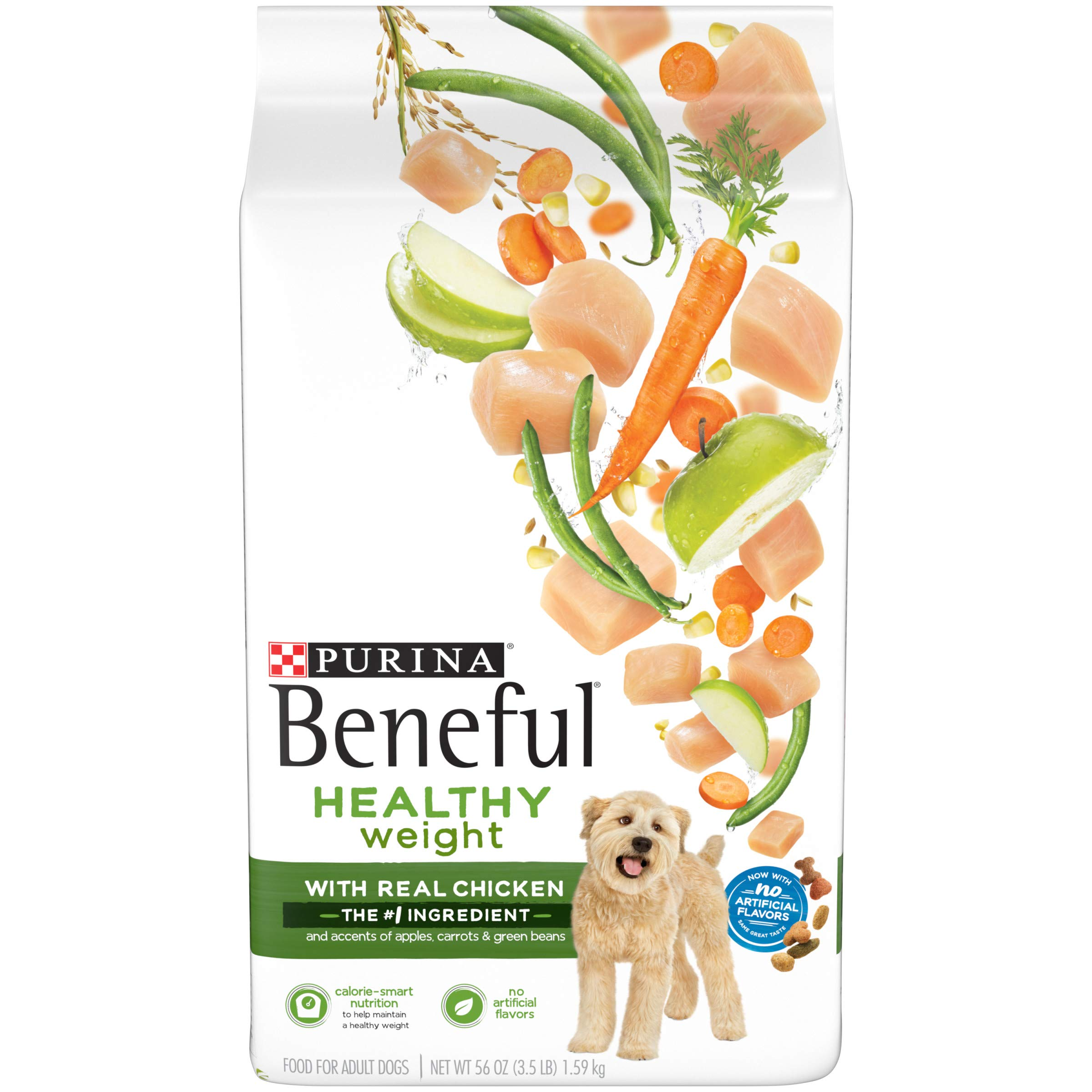 Purina Beneful Healthy Weight Dry Dog Food, Healthy Weight With Real Chicken - 3.5 lb. Bag by Purina Beneful