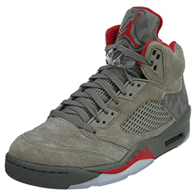 newest 1dc7b d0bdc Jordan Men s Air 5 Retro, Dark Stucco University RED, 18 M US   Amazon.co.uk  Shoes   Bags
