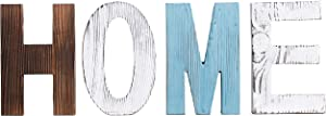 RHF Wood Standing Cutout Letter Decor, Rustic Home Decor,Family Signs,Shelf Decor,Home Sign,Wall Decor,Signs for Home Decor,Farmhouse Decor,Decorative Sign,Decorative Letters Object (Home) 4 Letter