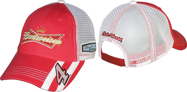 おすすめネット NASCAR Kevin Harvick Kevin B00TFW1WTC # 4 # Budweiser Racingストライプメッシュキャップ/帽子 B00TFW1WTC, 筑紫野市:2991d347 --- arianechie.dominiotemporario.com