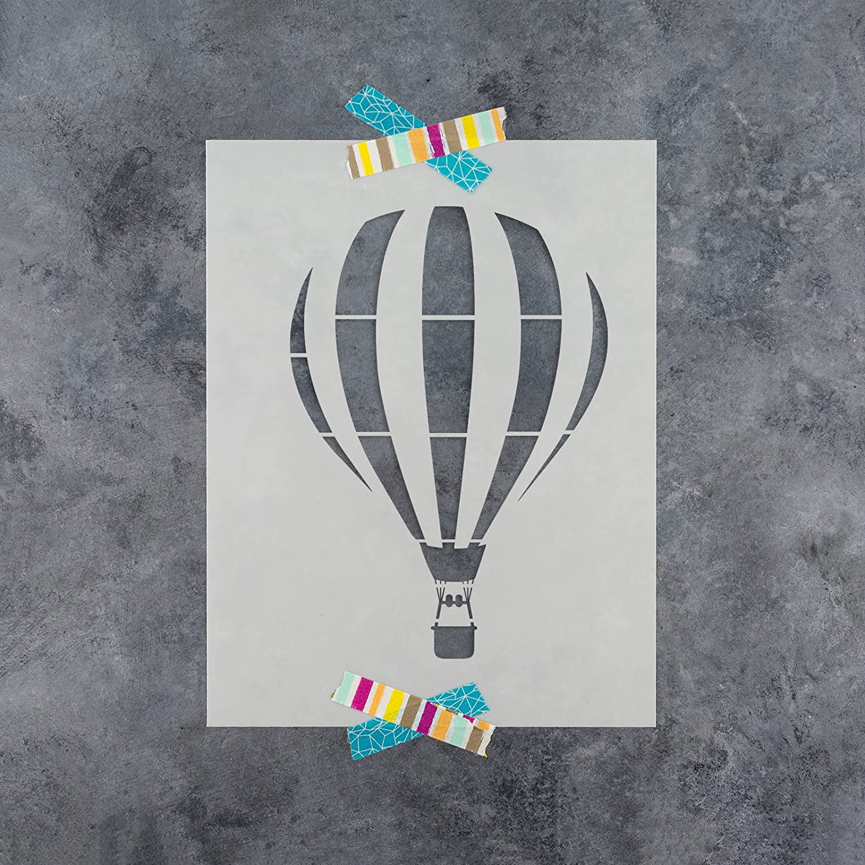 Amazon.com: Hot Air Balloon Stencil Template - Reusable Stencil with ...