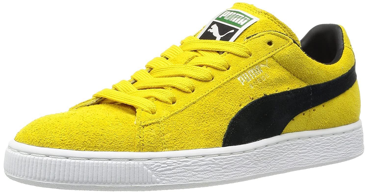 best loved 8eb32 a1a68 Puma Suede Classic Sneaker Vibrant Yellow/Black, : Amazon.co ...