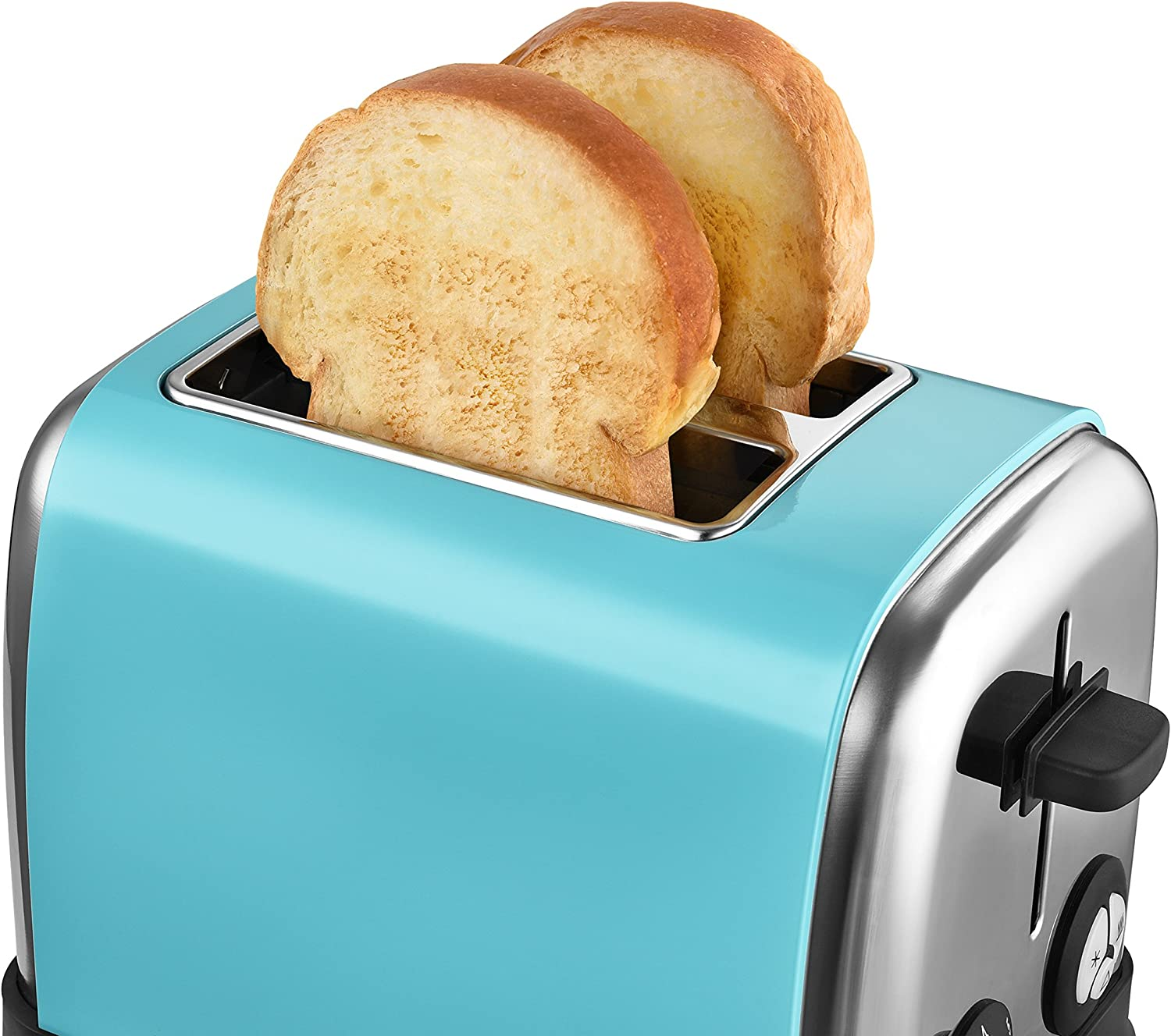 Kalorik Copper KitchenOriginals Stainless Steel 2 Slice Toaster with 6 Browning Settings, Extra High Lift, Defrost, Reheat, Cancel, 850W, TO45726, 850 W Aqua