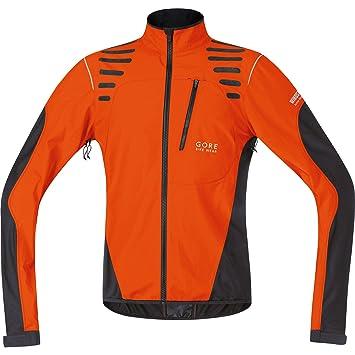 GORE BIKE WEAR Fusion Cross 2.0 Windstopper Active Shell - Chaqueta de ciclismo para hombre, color naranja/marrón, talla M: Amazon.es: Deportes y aire libre