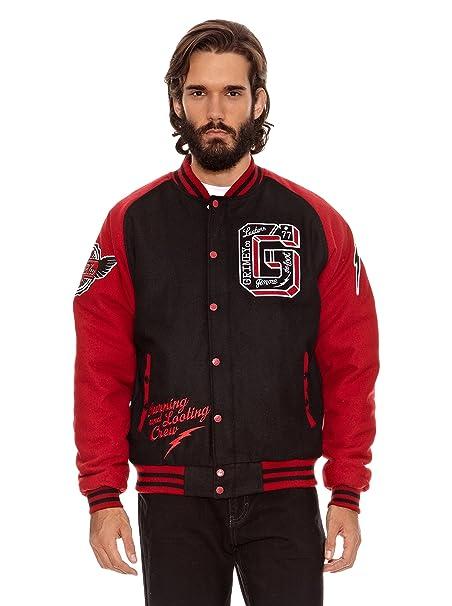 Grimey Wear Chaqueta de Lana Crew Negro/Rojo 3XL: Amazon.es: Ropa y accesorios