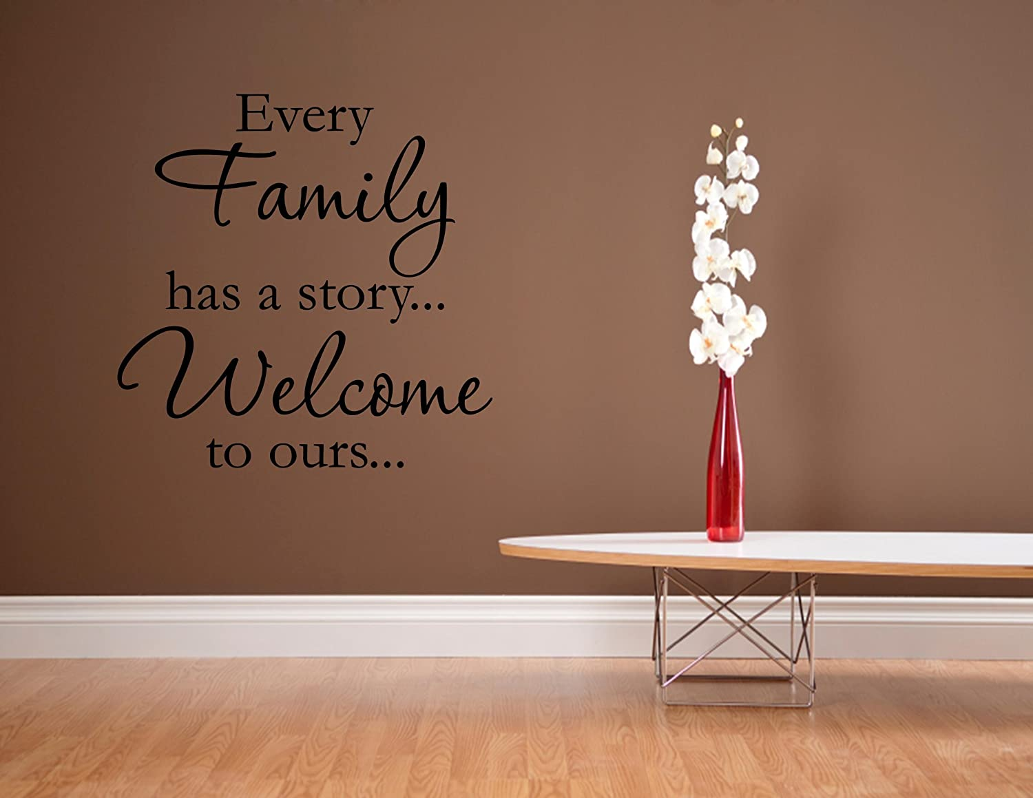 Amazon every family has a storywelcome to ours 0230 amazon every family has a storywelcome to ours 0230 vinyl wall decals quotes sayings home kitchen amipublicfo Choice Image