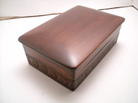 Amazon.com: Caja de almacenamiento para joyas de madera de ...