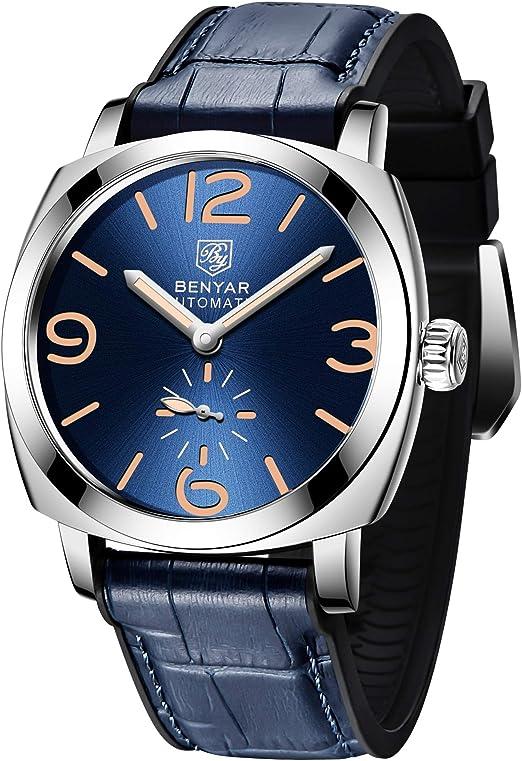 Benyar orologio da uomo automatico meccanico elegante orologi uomo analogico impermeabile PG-5174