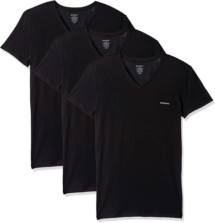 Diesel 3 Pack Camiseta Hombre, Cuello Pico, UMTEE-MICHAEL3PACK, S-XXL