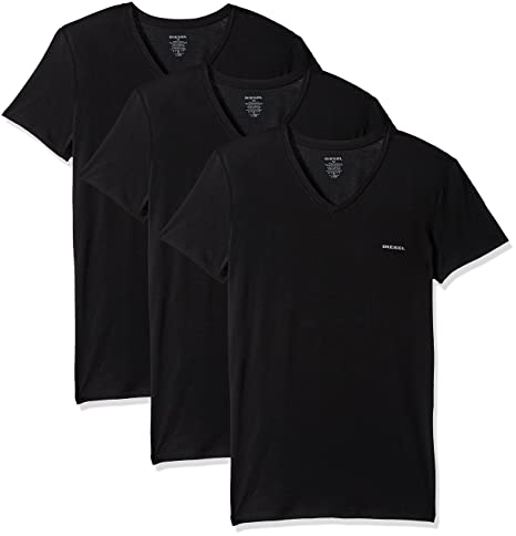 Diesel Men's Umtee Michael3pack V Neck T Shirt by Diesel