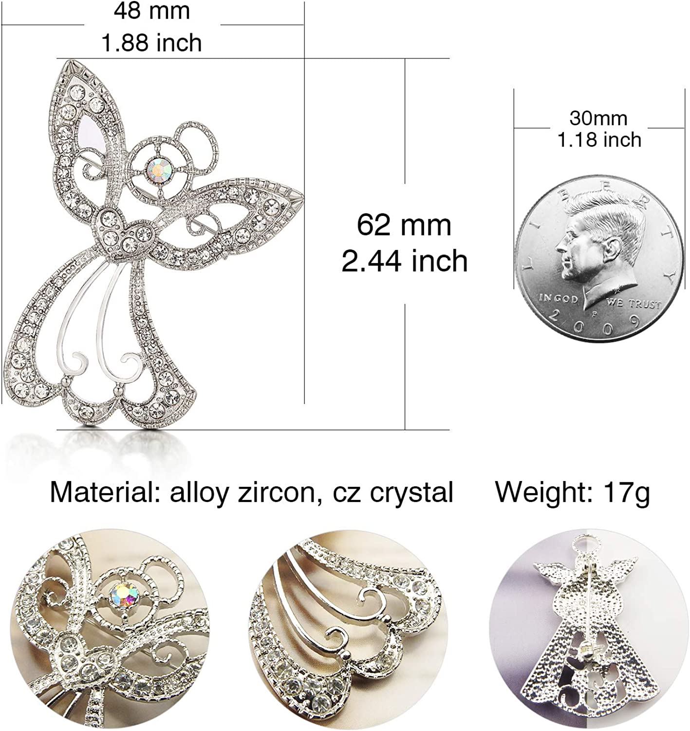 Nana Daughter Gift Christmas Angel Gift Gift For Her Girl Guardian Angel Carrying Heart Pin Brooch Genuine Austrian Crystal Mom Gift