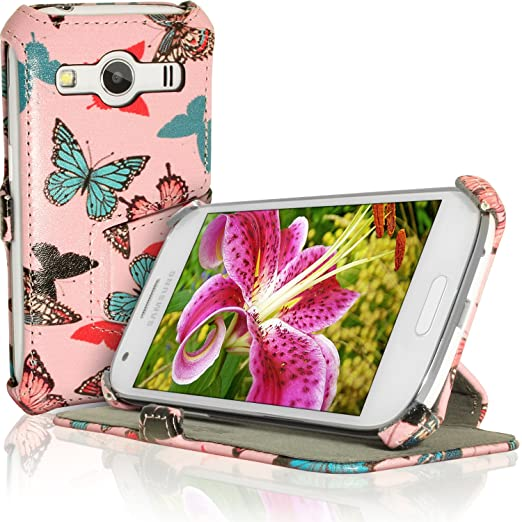 12 opinioni per igadgitz U3540 Folio Farfalla Disegno PU Pelle Custodia Case Cover per Samsung
