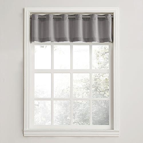 Window Grommet Curtain With Valance Amazon Com
