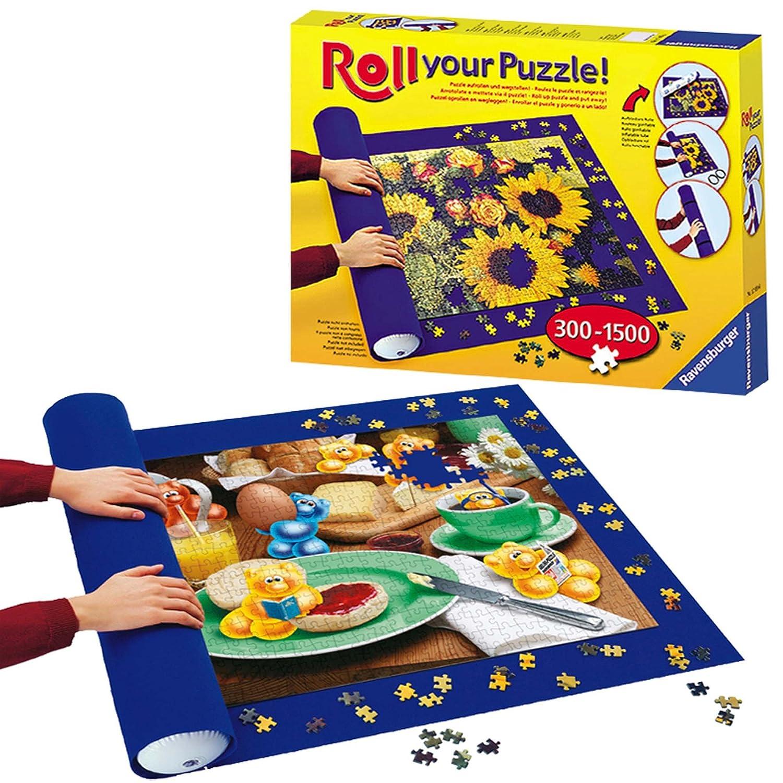 Ravensburger 17959 - Roll your Puzzle - Puzzlerolle für 300 - 1500 Teile Puzzles (Puzzlematte) 96786 Klebstoff Puzzle-Zubehör Puzzlekleber