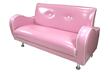 Mini Nony S PVC Sofa (Baby Pink/White Piping)