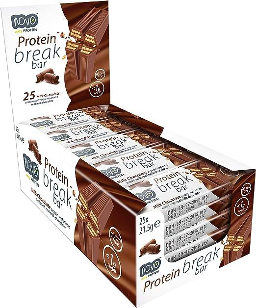 NOVO Protein Break Bar Chocolate, 25 x 21.5 gr.