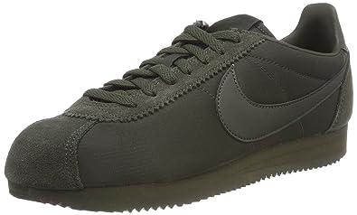 d754e65bd7d7 Nike Men s s Classic Cortez Nylon Low-Top Sneakers Green Sequoia-White 301