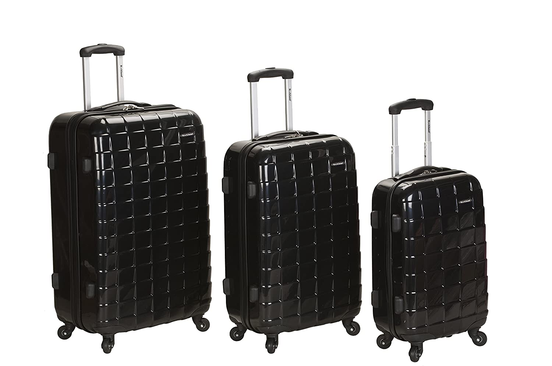 Rockland Luggage Celebrity 3 Piece Luggage Set One Size Fox Luggage F129-BLACK Black