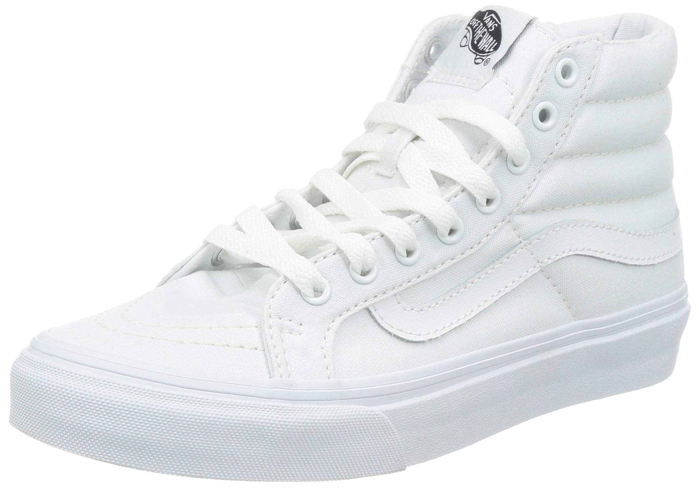 06db55f7bf Galleon - Vans Unisex Sk8-Hi Slim (Canvas) True White VN000XH7L5R Mens 7.5