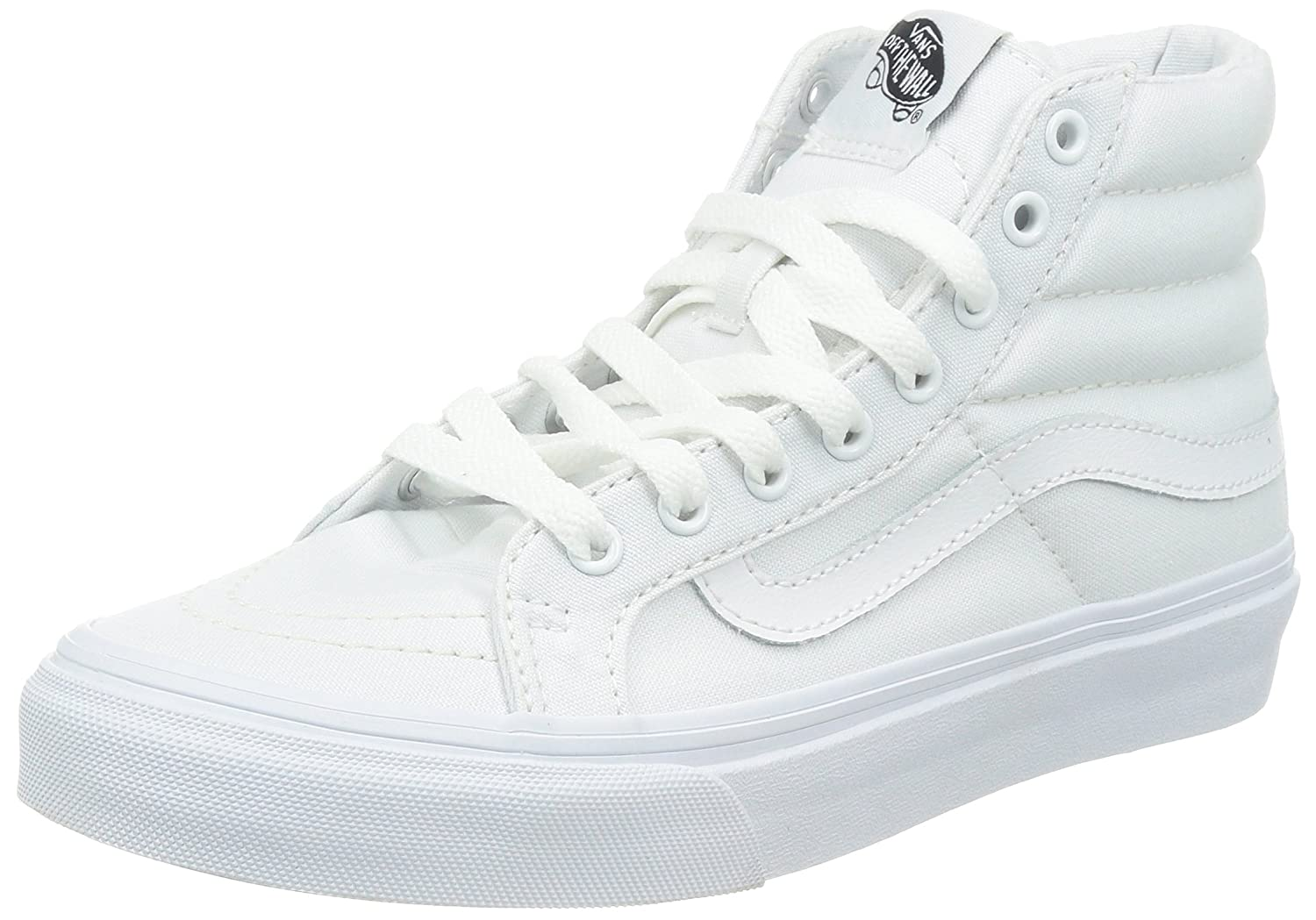 Vans Unisex Sk8-Hi Slim Women's Skate Shoe B00F5800VG 6 D(M) US|(Canvas) True White