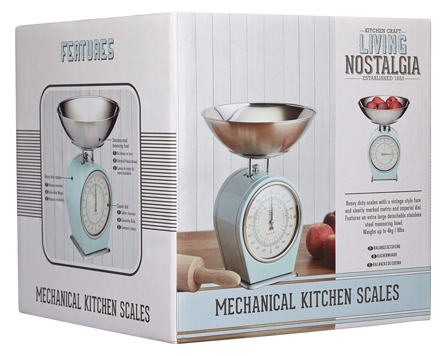 Amazon.com: Kitchencraft Living Nostalgia Mechanical Kitchen Scales, 4kg (8 Lbs) - Vintage: Kitchen & Dining