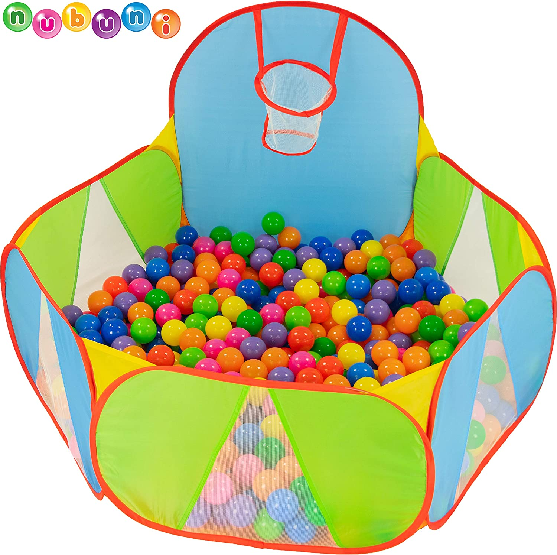 NUBUNI Piscina de Bolas : Piscina Infantil : Piscina Bolas para Parque Infantil : Piscina Bolas Bebe : Parque de Bolas : Mini Canasta Baloncesto Habitación