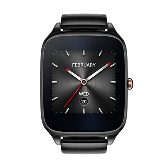 ASUS ZenWatch 2 Gunmetal Gray 41mm Smart Watch with HyperCharge Battery, 1.63-inch AMOLED Gorilla Glass 3 TouchScreen, 4GB Storage, IP67 Water ...