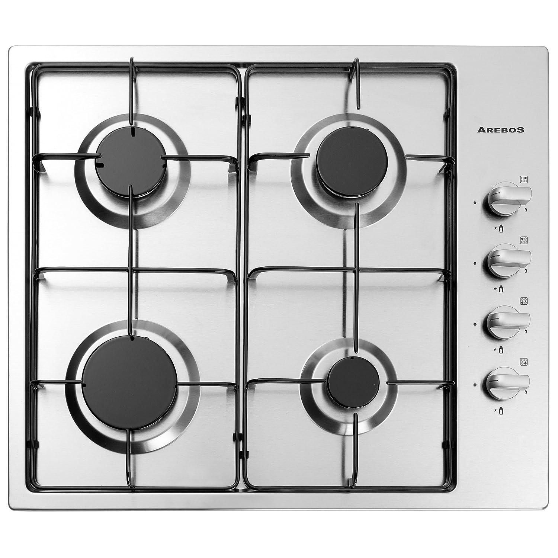 Acero inoxidable cocina de gas gas hobs 4 llamas empotrable Horno ...