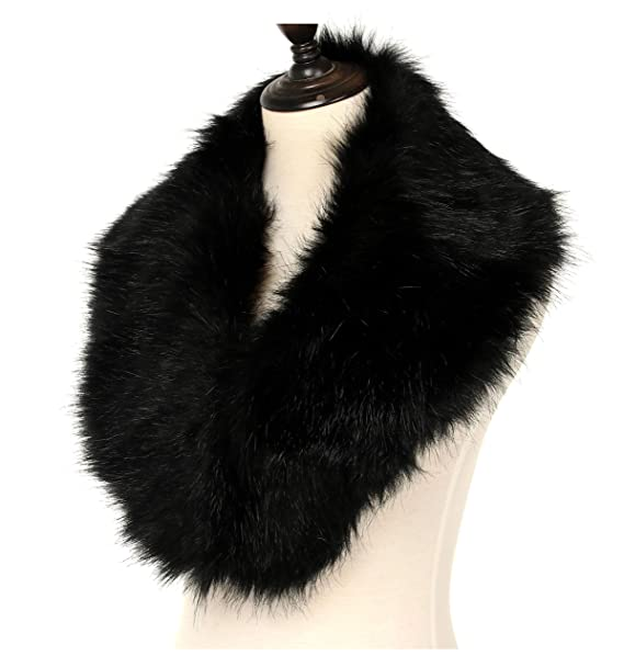 5a6419ae6 Amazon.com: La Carrie Women's Faux Fur Collar Scarf Wrap Cold Winter ...