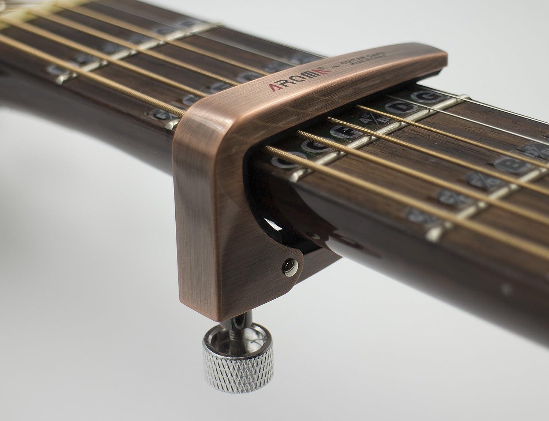 Metal Guitarra Cejilla tensión ajustable para eléctricas y ...