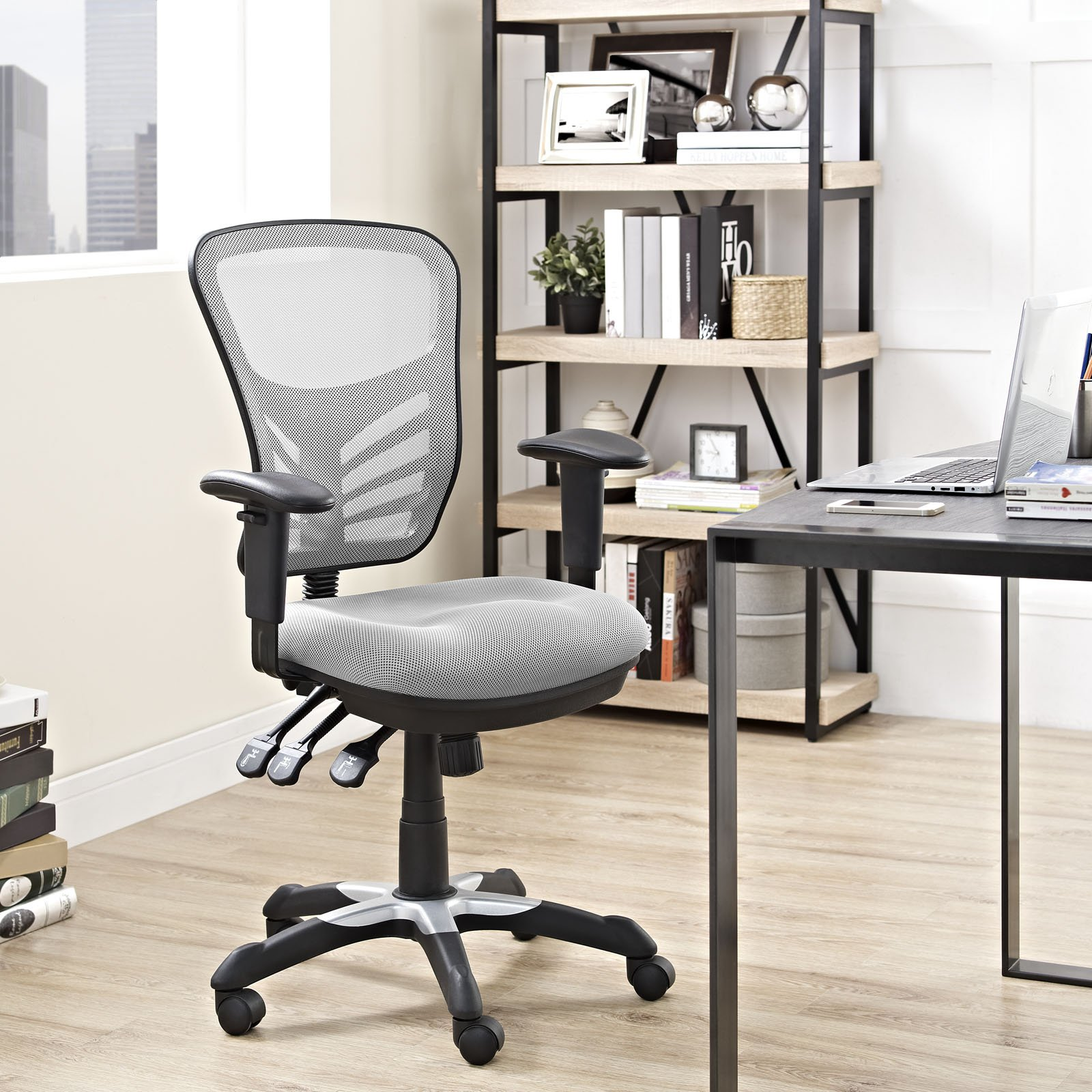 Modway Articulate Ergonomic Mesh Office Chair in Gray by Modway (Image #6)