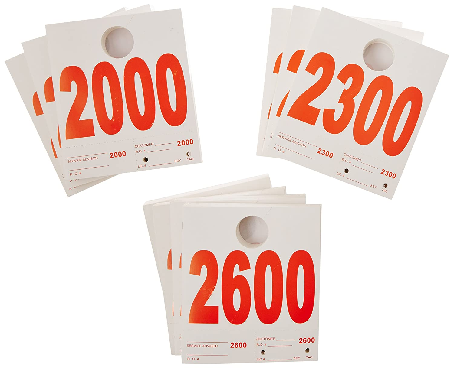 Automotive Interior Protection 70-002-1000PK Dispatch Number System Numeral 2000-2999, Case of 1000