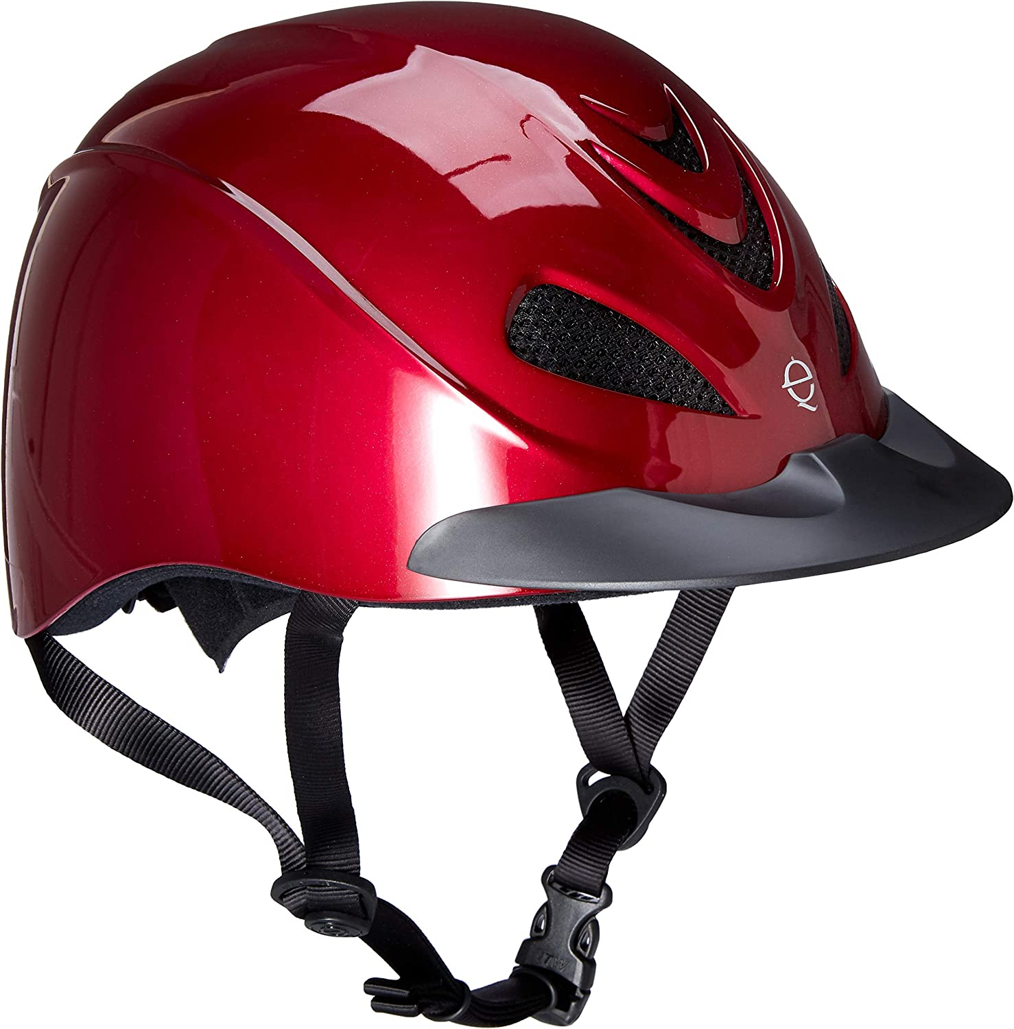 TROXEL LIBERTY BLACK DURATEC WESTERN SAFETY HORSE RIDING HELMET LOW PROFILE