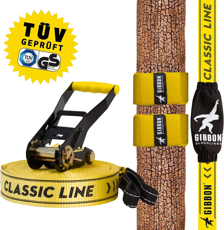 Gibbon Line Cinta para Equilibrio, Slackline Set Classic X13 Tree ...