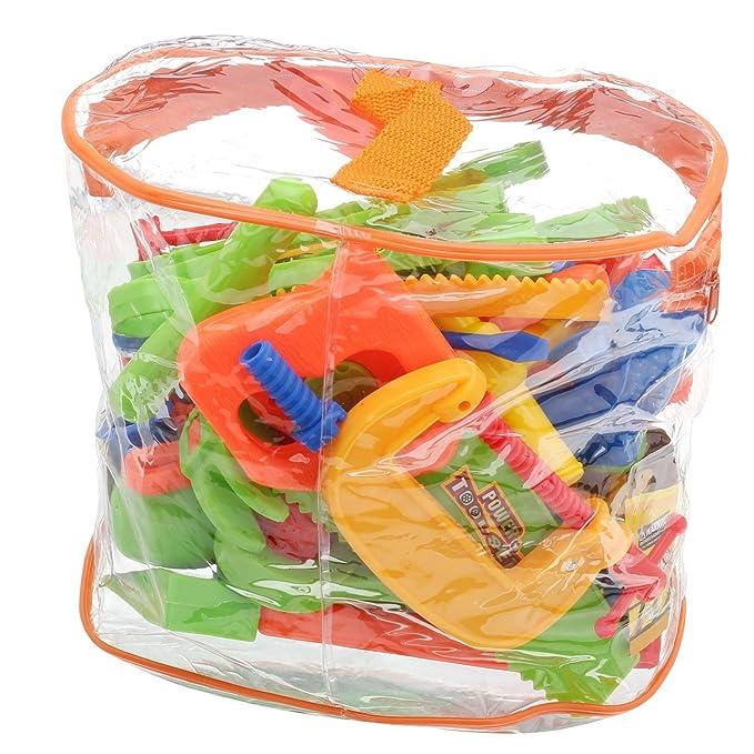 Pinzhi 34 unidades Plástico Repair Tools Set Baby Niños juguete handwerker Pretend Jugar Diversión: Amazon.es: Bebé