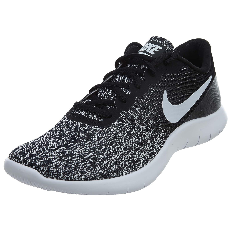 Nike New Womens Flex Contact Running Shoe Black White 10