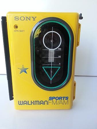 sony yellow walkman. sony sports walkman fm/am/cassette wm-f45 ~ yellow water resistant sony walkman t