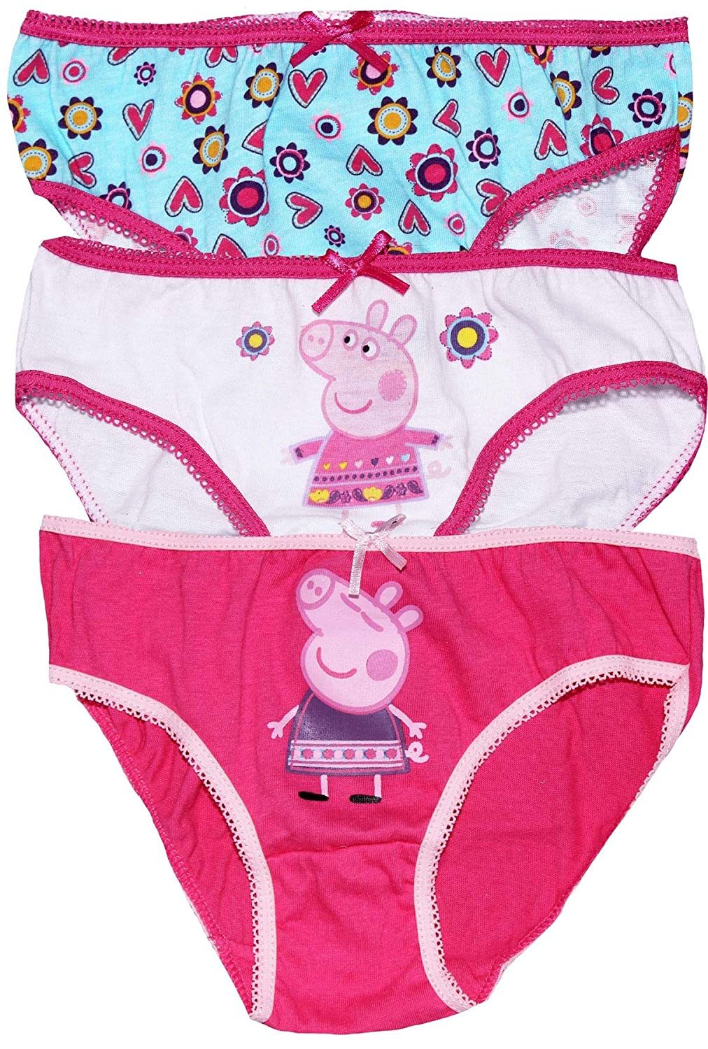 Peppa Pig Girls Three Pack Underwear Knickers Set BestTrend