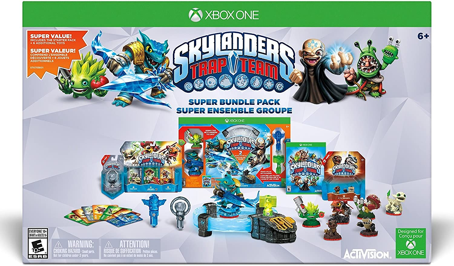 amazon com skylanders trap team holiday bundle pack xbox one rh amazon com Skylanders Portal Xbox 360 Xbox 360 Skylanders Mega Pack